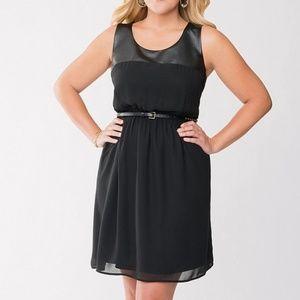 Lane Bryant Faux Leather Sleeveless Dress